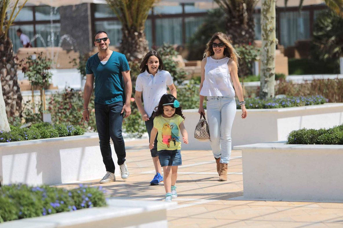 Family enjoying a walk at Pomegranate