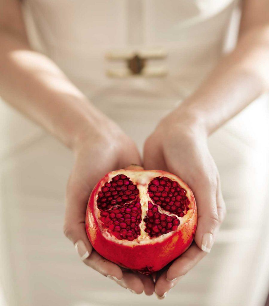The beauty of pomegranate